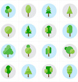 Flat Tree Icons vector image