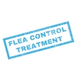 Flea Control Treatment Rubber Stamp vector image vector image