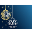 french merry christmas and happy new year 2016 vector image
