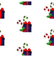 gift box with a red bow vector image vector image