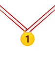 gold medal isolated on a white background gold vector image vector image