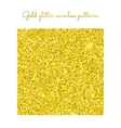 Golden glitter seamless pattern vector image vector image