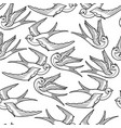 graphic flying birds vector image vector image