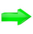 green arrow 3d next icon vector image vector image