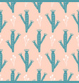 hand drawn wild cactus flowers seamless pattern vector image vector image
