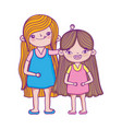 happy childrens day two little girls together vector image