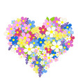heart made flowers vector image