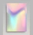 holographic vertical backdrop vector image vector image