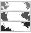 Horizontal banners with grey paint splash vector image vector image