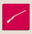 hunting rifle icon silhouette vector image vector image