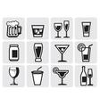 icon beverage vector image vector image