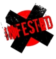 Infested rubber stamp vector image vector image