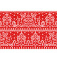 lace red background wirh deer vector image vector image