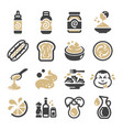 mayonnaise icon set vector image vector image