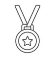 medal thin line icon trophy and award vector image vector image