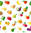organic vegetarian food vegetables and fruits vector image vector image