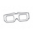 outline paper 3d glasses front view vector image vector image