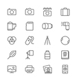 Photography thin icons vector image vector image
