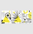 posters set with bright bold geometric elements vector image vector image