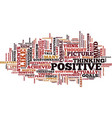 power positive thought text background vector image vector image