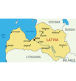 Republic of Latvia - map vector image vector image