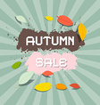 Retro Autumn Sale Background vector image vector image