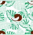 seamless pattern with coconut vector image