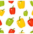 seamless pattern with green red yellow sweet vector image vector image