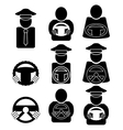 Set of Driver Icons Isolated on White Background vector image