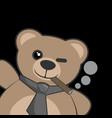 smoking bear vector image