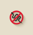 snake silhouette animal pest icon stop sign vector image vector image