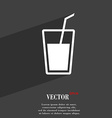 Soft drink symbol Flat modern web design with long vector image