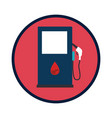 station service fuel isolated icon vector image vector image