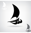 Stylized black silhouette of the ship vector image vector image