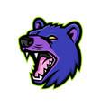 tasmanian devil head mascot vector image vector image