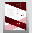 Template design layout brochure geometric