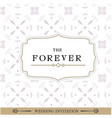 the forever retro white background image vector image vector image