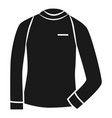 thermal sweater icon simple style vector image