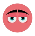 tired face emoticon icon vector image vector image