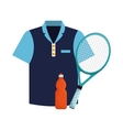 tshirt bottle water and racket tennis icons vector image
