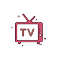 tv videos movies news icon design vector image
