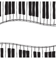 Two piano keys - sketch style vector image