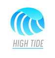 water wave and pure drop banner with high tide vector image