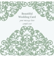 Wedding Invitation card Imperial style vector image vector image