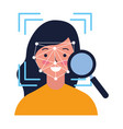 woman face scan vector image
