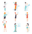 women of different professions set achievements vector image vector image