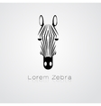 Zebra head on white background vector image