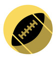 american simple football ball flat black vector image