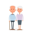 Happy old couple together Cute Seniors couple vector image