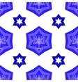Blue David Star Seamless Background vector image